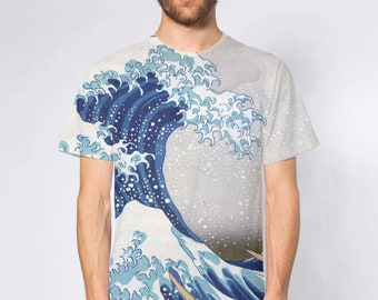 BellavanceInk: Japanese Wood Cut The Great Wave Off Shore of Kanagawa Short Sleeve T-Shirt