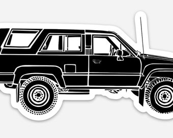 BellavanceInk: Vintage SUV 4Runner Vinyl Sticker Hand Drawn Illustration