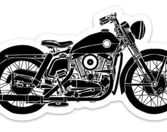 BellavanceInk: Vintage American Motorcycle Side View Vinyl Sticker Illustration