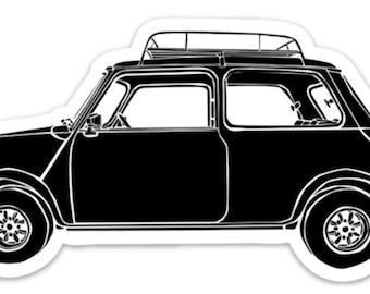BellavanceInk: Vintage Mini Car Vinyl Sticker Illustration