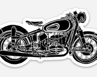 BellavanceInk: Vintage German Motorcycle Vinyl Sticker Illustration
