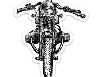 BellavanceInk: Vintage German Motorcycle R65 Cafe Racer Vinyl Sticker Illustration