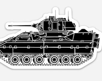 BellavanceInk: M2 Bradley Vinyl Sticker Hand Drawn Illustration