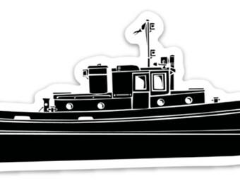 BellavanceInk: Vintage Tug Boat Vinyl Sticker Illustration