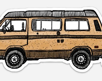 BellavanceInk: Westfalia Camper Van Vinyl Sticker Illustration