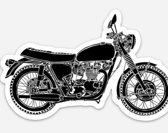 BellavanceInk: Vintage British Motorcycle Vinyl Sticker Illustration