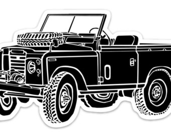 BellavanceInk: Vintage All Terrain Vehicle Vinyl Sticker Illustration