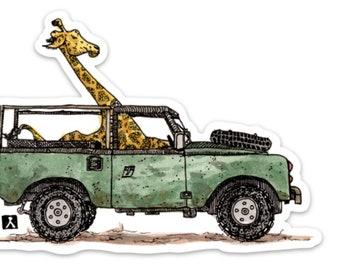 BellavanceInk: Giraffe On Safari Vinyl Sticker Illustration