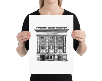 BellavanceInk: Limited Print of The Jefferson Theater In Charlottesville, Virginia Pen & Ink Drawing