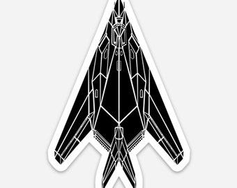 BellavanceInk: F-117 Nighthawk Fighter Jet Vinyl Sticker Illustration
