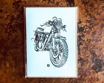 BellavanceInk: Greeting Card With A Japanese Custom Cafe Racer Motorcycle  5 x 7 Inches