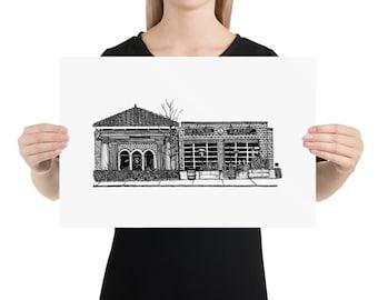 BellavanceInk: Limited Print Pen & Ink Sketch of Fry's Spring Station Restaurant
