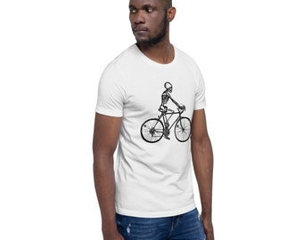 BellavanceInk: Skeleton Riding Their 10 Speed Bicycle On A Short Sleeve T-Shirt