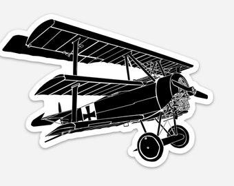 BellavanceInk: The Red Baron's Fokker Dr.I Tri-plane Vinyl Sticker Illustration