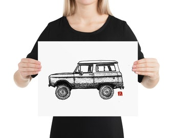 BellavanceInk: Pen & Ink Drawing With Vintage Bronco Truck