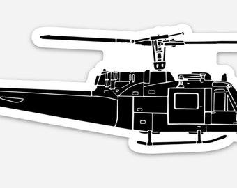 BellavanceInk: Vintage Bell UH-1 Iroquois Helicopter Vinyl Sticker Illustration