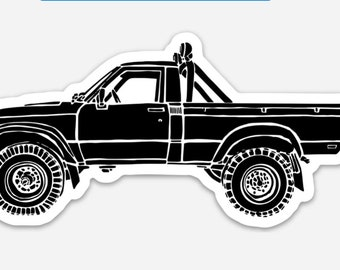 BellavanceInk: Vintage Tacoma Pick-Up Truck Vinyl Sticker Hand Drawn Illustration