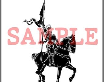 BellavanceInk: Saint Joan Of Arc Woodcut Style Illustration Vector/Raster Image