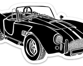 BellavanceInk: Vintage Shelby Cobra Sports Car Vinyl Sticker Illustration