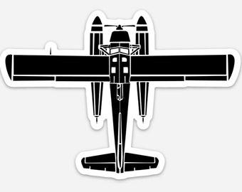 BellavanceInk: de Havilland Canada DHC-2 Beaver Sea Plane Vinyl Sticker Illustration