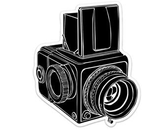 BellavanceInk: Vintage Hasselblad Camera Vinyl Sticker Illustration