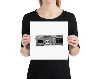 BellavanceInk: Limited Print of the Charlottesville Area Eating Attraction Peter Chang's Grill At Barracks Road Shopping Center