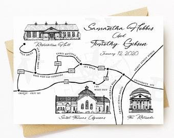 BellavanceInk: Custom Made Event Location Map For Weddings, Anniverseries, Birthdays & More
