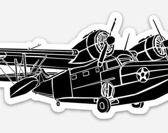 BellavanceInk: Grumman G44 Goose Sea Plane Vinyl Sticker Illustration