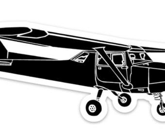 BellavanceInk: Vintage Cessna Recreational Airplane Vinyl Sticker Illustration