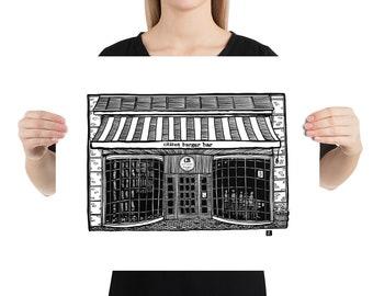 BellavanceInk: Charlottesville Area Attractions Citizen Burger Restaurant Limited Prints