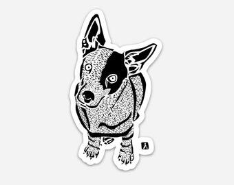BellavanceInk: Jack Russell Terrier Hand Drawn Illustration Sticker