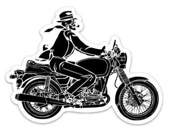 BellavanceInk: Death Riding A Motorcycle Vinyl Sticker Illustration
