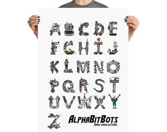 AlphaBitBots: ABC AlphaBitBots Poster Available In Several Sizes
