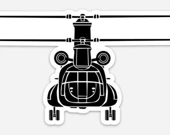 BellavanceInk: Vintage CH-47 Chinook Vinyl Sticker Illustration