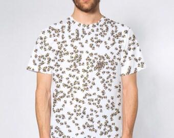 BellavanceInk: All Over Print Honybee Swarm Beekeeping Short Sleeve T-Shirt