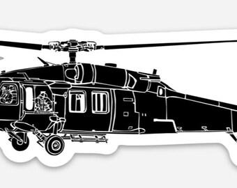 BellavanceInk: UH-60 Black Hawk Helicopter Vinyl Sticker Illustration