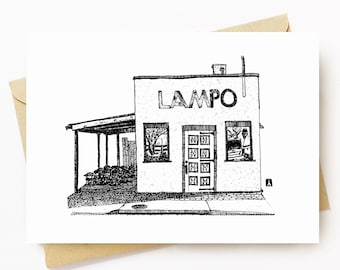BellavanceInk: Greeting Card Of Local Charlottesville/Belmont Restaurant Lampo