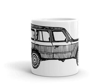 BellavanceInk: Coffee Mug With A Vintage FJ60 Pen & Ink Sketch