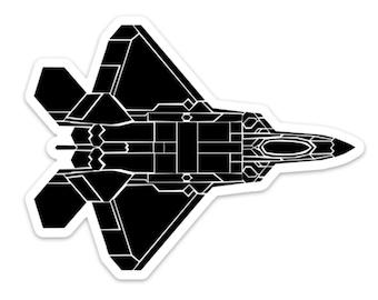 BellavanceInk: F22 Raptor Fighter Jet Vinyl Sticker Illustration