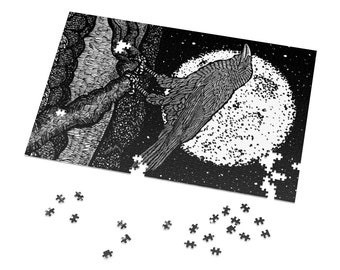 "BellavanceInk: Crow Under The Moon Jig-Saw Puzzle 1000 Pieces (20"" x 30"")"