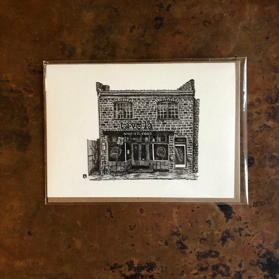 Mailing Card With Vintage Charlottesville Spudnuts Restaurant 5 x 7 Inches BellavanceInk
