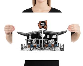 BellavanceInk: Charlottesville Area Attractions Mel's Diner On West Main Street Restaurant Limited Prints
