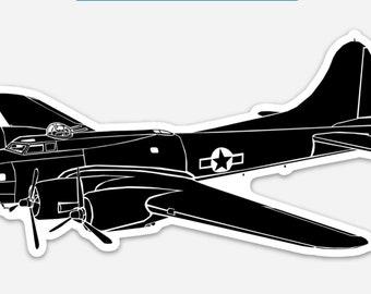 BellavanceInk: B-17 Flying Fortress Bomber Vinyl Sticker Illustration