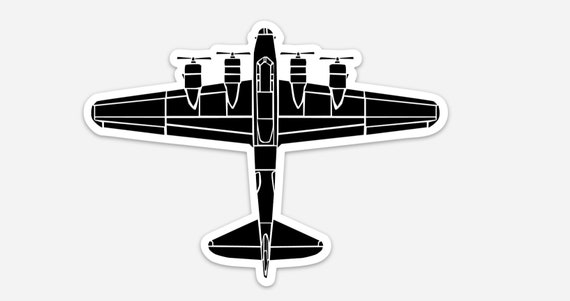 AC130 BellavanceInk AC-130 Gunship Aircraft Vinyl Sticker Illustration