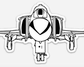 BellavanceInk: F4 Phantom Attack Jet Vinyl Sticker Pen and Ink Illustration