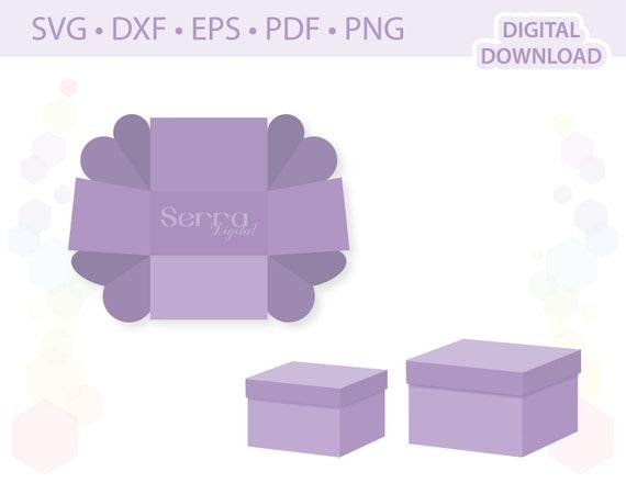 Rechteckige Explosion Box Vorlagen Svg Dxf Eps Pdf Png Etsy