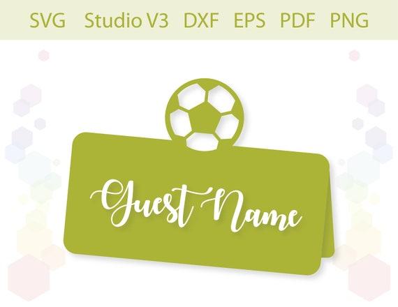 Football Place Card Cut File Svg Studio V3 Silhouette Eps Pdf