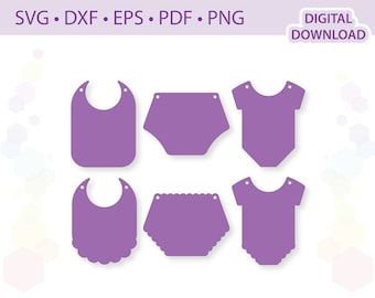 Baby Clothes Bunting banner cut files .svg .eps .dxf .pdf .png