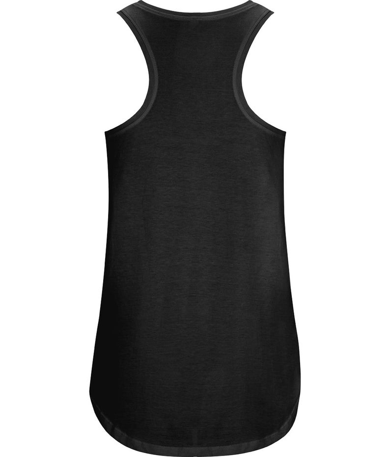 Lift heavy things women/'s weight lifting top Organic cotton black racerback vest printed with vegan ink Ethical active wear.