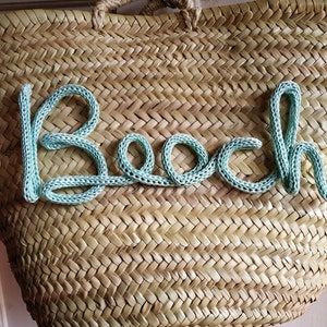 glitter silver Rope bag straw bag tote bag basket beach faux leather handle
